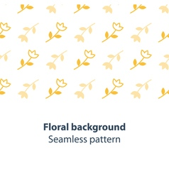 Yellow flowers fancy backdrop pattern vector