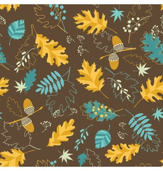 Brown fall pattern vector image