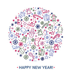 happy new year greeting cards design vector image vector image