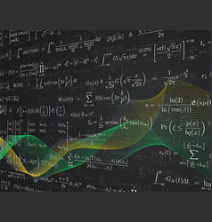 mathematics background vector image vector image