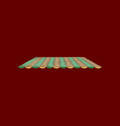 flat shading style icon roof awning vector image