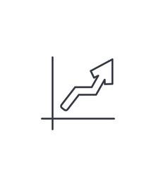 growth graph chart market success arrow up thin vector image