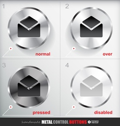 Set of four positions of Circle Metal Contact vector image vector image