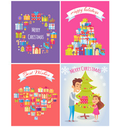 happy birthday merry christmas vector image vector image