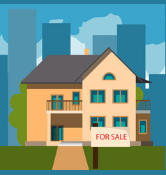 home for sales vector image
