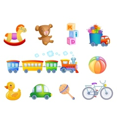 Set of 10 toys for kid vector image vector image