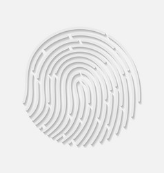 Touch fingerprint radial id app with shadows vector image vector image