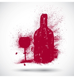 Wine drinking sign vector image vector image