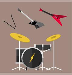 beautiful modern electric guitar jazz instrument vector image