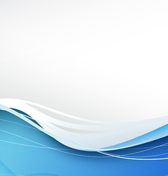 Blue wave abstract modern background vector image