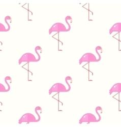Flamingo Bird Background Retro Seamless Pattern vector image