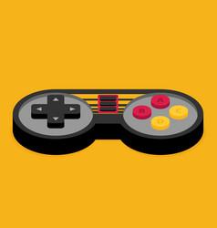 Flat joystick icon vector