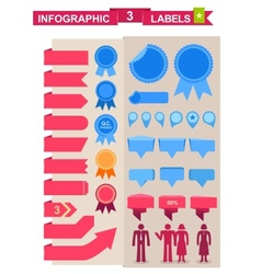Labels set for infographics vector image vector image