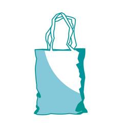 plastic shopping bag market pack image vector image