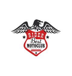 rider best motoclub logo premium ride design vector image vector image
