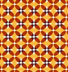 Seamless retro yellow pattern vector image vector image