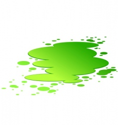 splash of toxic poison vector image