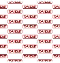 Top secret stamp seamless pattern vector image