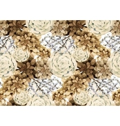 Watercolor vintage floral pattern vector