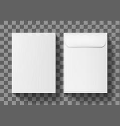 a4 white blank paper envelope letter vertical vector image