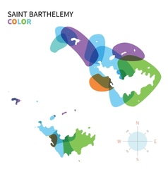 Abstract color map of saint barthelemy vector