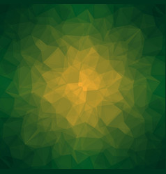 abstract dark green polygonal background vector image