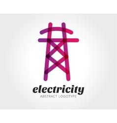Abstract electricity logo template vector