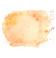 Abstract orange watercolor background vector