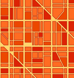 Abstract seamless background of city district vector