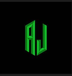 Aj initial gaming esport logo design modern vector