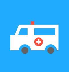 ambulance car medical and hospital related flat vector image