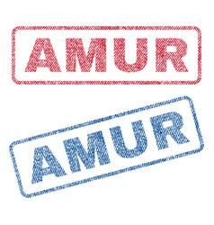 Amur textile stamps vector