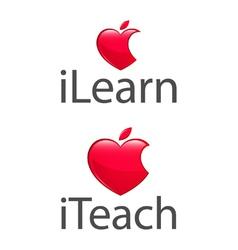 Apple heart teach learn low res vector