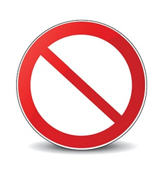 Banned icon vector
