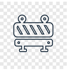 barrier concept linear icon isolated on vector image