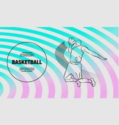 Basketball slam dunk basketball player vector