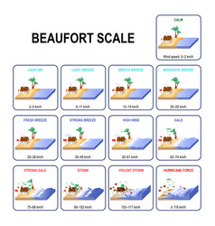 beaufort wind force scale vector image