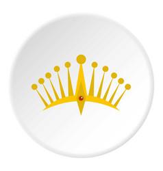 Big crown icon circle vector