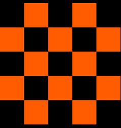 Black and orange checkered background vector