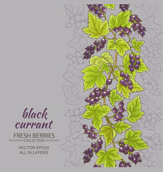 Black currant background vector