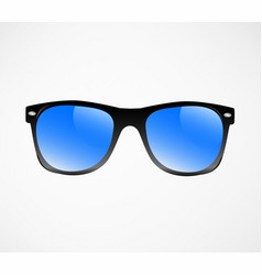 black sunglasses blue lins vector image