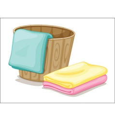 Bucket and towels vector