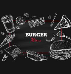 Burger menu hand drawn 2 vector