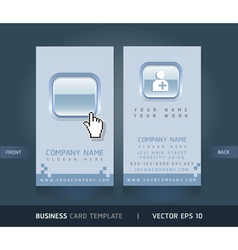 Business card blue buttons style vector image