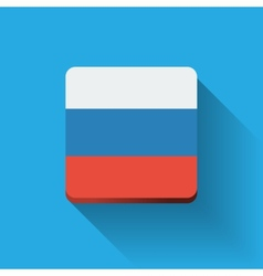 Button with flag of Russia vector
