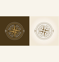 camping adventure expedition logo badge outdoor vector image