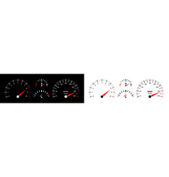 car speedometer dashboard auto with gauge vector image