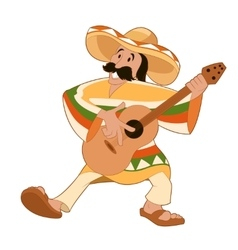 Cartoon happy Mexican vector image