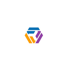 circle shape geometry colorful business logo vector image