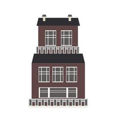 city element of three-storey apartment public vector image